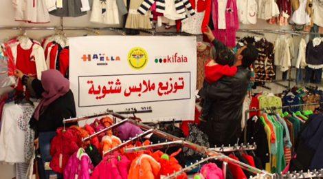 Warme kleren voor de allerarmste gezinnen in Gaza