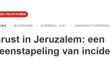Kop op NOS.nl: onrust in Jeruzalem